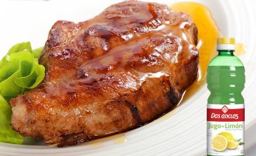 Bondiola de cerdo con azúcar y miel