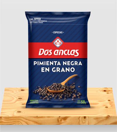 Especias Pimienta Negra en Grano x 50g